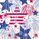 USA Fireworks July 4th Lunch Napkins Party Supplies Memorial Veterans Day 16 ct