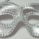 Silver White Lace Cat Eye Mask Masquerade Party Mardi Gras Halloween