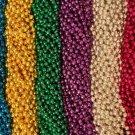 100 Asst 6 color Mardi Gras Gra Beads Necklaces Party Favors Huge Lot