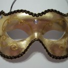 Gold Jewel Masquerade Costume Party Mask Classic Mardi Gras Rhinestones