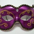 Purple Gold Jewel Masquerade Costume Party Mask Classic Mardi Gras Rhinestone