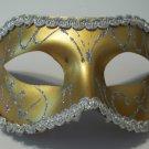 Gold Silver Gray Mardi Gras Masquerade Party Value Mask
