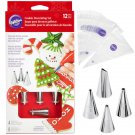 Wilton 12 pc Christmas Cookie Decorating Set 3 5 14 101Tips & 8 Disposable Bags