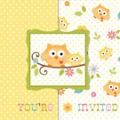 Happi Tree Baby Shower Sweet Baby Owl Invitations 8 ct & 25 ct Thank yous 8 ct
