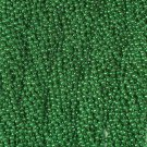 12 Green Round Mardi Gras Beads Necklaces Party Favors 1 Dozen Lot