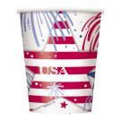 USA Fireworks July 4th Cups 8 ct Party Supplies Hot Cold Paper 9 oz Memorial day