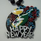 Happy New Year Mardi Gras Beads Bead Party Favor Necklace