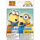 """Despicable Me 2 Minions Party Supplies 8 Balloons Helium Quality 12"""" Latex"""