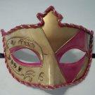 Pink Gold Embossed Venetian Mardi Gras Prom Mask