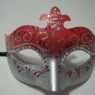 Red Sparkle Scroll Venetian Masquerade Mardi Gras Mask
