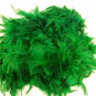 "Emerald Green Chandelle Feather Boa 72"" 6Ft 6 Ft Masquerade Costume Bachelorette"