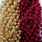 49ers 1 dozen Red Gold Superbowl Mardi Gras Party Favors Football Beads Tailgate