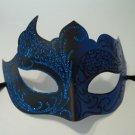 Dark Blue Black Unique Venetian Mask Masquerade Mardi Gras Free Shipping