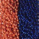 Blue Orange Broncos Mardi Gras Beads Football Tailgate Party Favors Lot 24 48 72