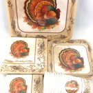 Thanksgiving Traditional Feast Turkey Party Supplies Basic Pack 8 Guests 56 pc