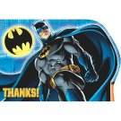 Batman Birthday Party Supplies Thank You Cards, Envelopes, Seals 8 ct each