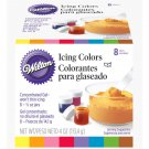 Wilton 8 pc Icing Colors Set Red Yellow Green Blue Brown Orange Pink Violet