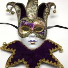 Lady Jester Renaissance Decorate Or Wear Mardi Gras Masquerade Mask Wall Hanging