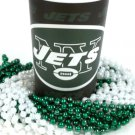 New York Jets 22 oz Cup 12 Mardi Gras Beads Green White Party Supplies