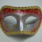 Red Gold Silver Wide Mardi Gras Masquerade Party Value Mask