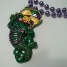 Alligator Umbrella Gator Second line Dance New Orleans Mardi Gras Bead Necklace