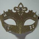 Gold Glitter Princess Crystal Mardi Gras Masquerade Mask Laser Cut