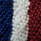 72 Red White Blue Memorial 4th July Mardi Gras Beads Necklaces Party Favors