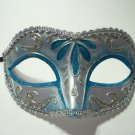 Light Blue Silver Child Teen or Adult Venetian Masquerade Mardi Gras Mask