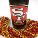 San Francisco 49er's 22 oz Cup 12 Mardi Gras Beads Red Gold Party Supplies