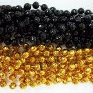48 New Orleans Saints Mardi Gras Beads Party Favors Necklace 24 Black 24 Gold