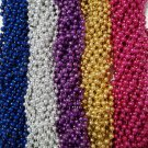 60 Spring Break Mardi Gras Beads Party Favors Metallic Necklaces 5 Dozen Lot