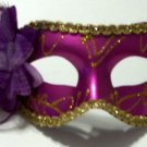 Dark Purple Rose Flower Masquerade Party Value Mardi Gras Halloween Mask