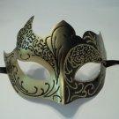 Black Gray Gold Venetian Mask Masquerade Mardi Gras Free Shipping