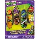 Teenage Mutant Ninja Turtles Plastic Skateboards 4 pk Favors Party Supplies TMNT