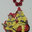 """Fireman With Hose 36"""" Mardi Gras Bead Party Favors Necklace"""