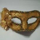 Gold Flower Multi Trim Masquerade Party Value Mardi Gras Halloween Mask