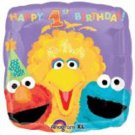 Sesame Street Square Balloon Foil 1st Birthday Party Supplies Big Bird Elmo