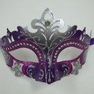 Purple Silver Princess Laser Cut Mardi Gras Masquerade Mask Free Shipping