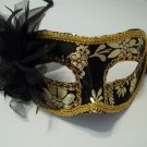Black Gold Flower Mardi Gras Masquerade Prom Value Party Mask