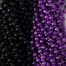 Purple Black Ravens Mardi Gras Beads Football Tailgate Party Favors Lot 24 48 72
