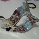 Scallop Metallic Silver Venetian Mardi Gras Masquerade Party Value Mask