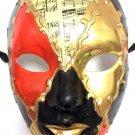Red Black Gold Full Face Paper Mache Mardi Gras Masquerade Mask Men Male