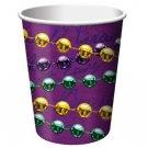Rue Bourbon Mardi Gras Party Supplies New Orleans 9 oz Cups Hot cold 8 ct Decor