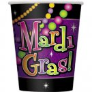 Mardi Gras Beads Party Supplies 9 oz Cups Hot cold 8 Ct Decor