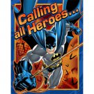 Batman Heroes and Villans Birthday Party Supplies Invitations 8 ct