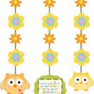 Happi Tree Baby Shower Sweet Baby Owl Decor Fancy Hanging Cutouts 3 pc