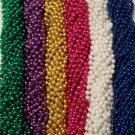 """144 33"""" Mardi Gras Beads Party Favors Necklaces PGG Pink White Blue 12 Dozen Lot"""