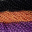 36 Purple Orange Black Halloween Mardi Gras Beads Party Favors Necklaces 3 Dozen