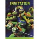 Teenage Mutant Ninja Turtles Invitations with Envelopes 8 ct Party Supplies TMNT