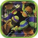 """Teenage Mutant Ninja Turtles 7"""" Square Dessert Plates 8 ct Party Supplies TMNT"""